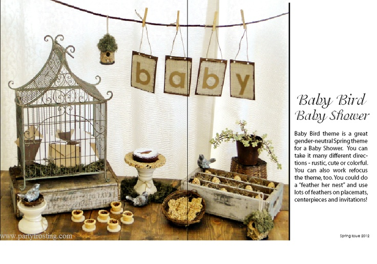 and sweet to achieve this look use bird cages branches and paper birds
