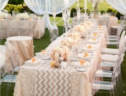 Sequin Chevron table